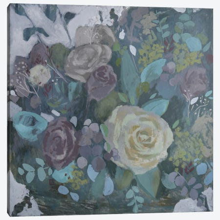 Forest Of Flowers Canvas Print #PLK20} by Polina Kharlamova Canvas Wall Art