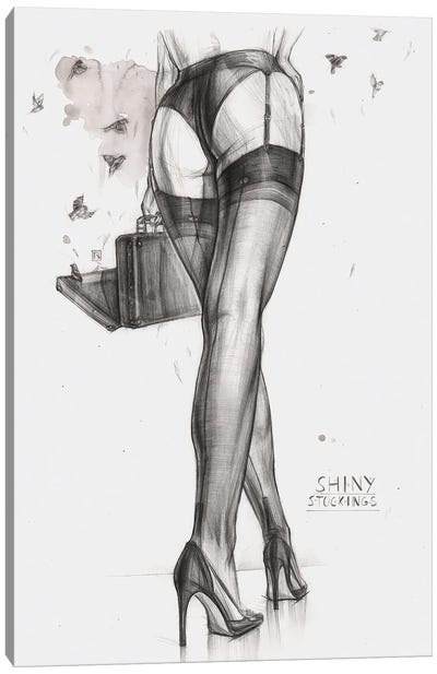 Shiny Stockings Canvas Art Print