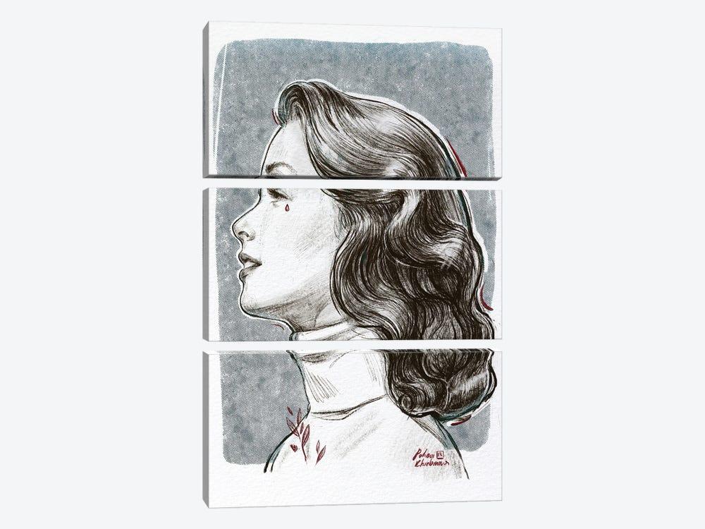 Grace by Polina Kharlamova 3-piece Canvas Art
