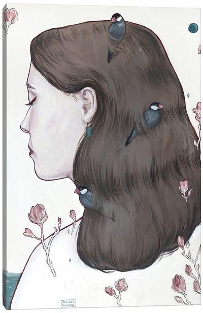 Moon Lady Canvas Art Print