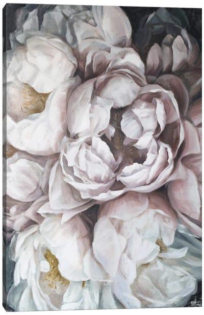 Misty Peonies Canvas Art Print