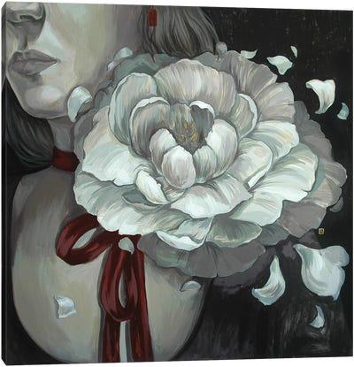 Night Peony Canvas Art Print