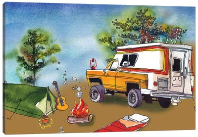 Camp Out I Canvas Art Print