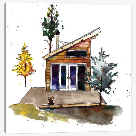 Rad Cabin IV Canvas Print #PLM20} by Paul Mccreery Canvas Art