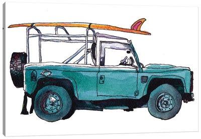 Surf Car I Canvas Art Print