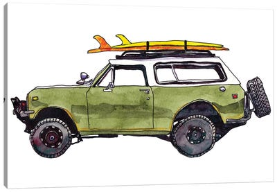 Surf Car II Canvas Art Print