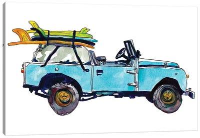 Surf Car III Canvas Art Print