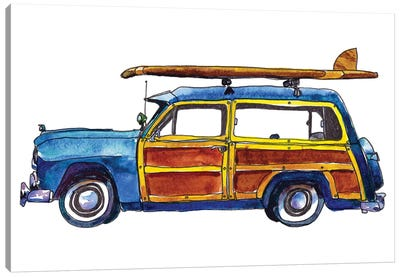 Surf Car IX Canvas Art Print