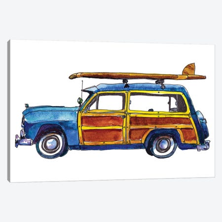 Surf Car IX Canvas Print #PLM26} by Paul Mccreery Art Print