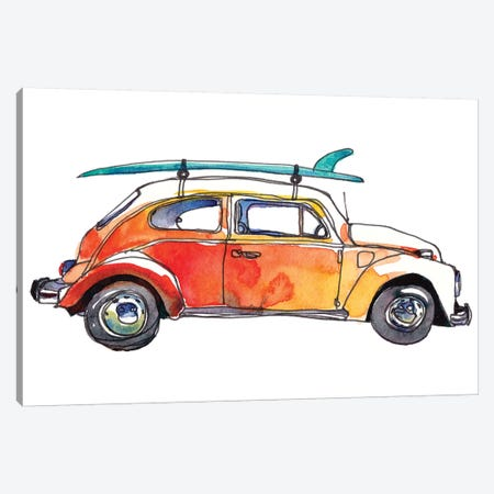 Surf Car V Canvas Print #PLM27} by Paul Mccreery Art Print