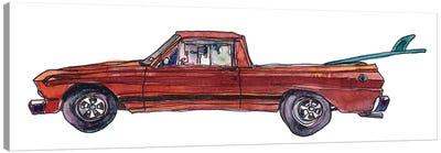 Surf Car X Canvas Art Print