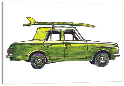Surf Car XII Canvas Art Print