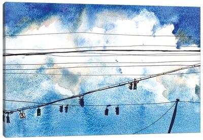 Urban Lines & Poles IV Canvas Art Print