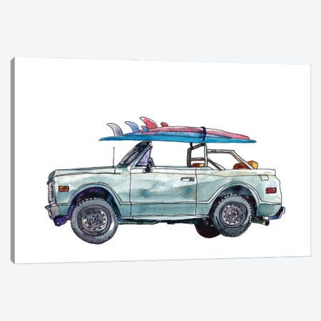 Surfin' Wheels I Canvas Print #PLM40} by Paul Mccreery Canvas Art