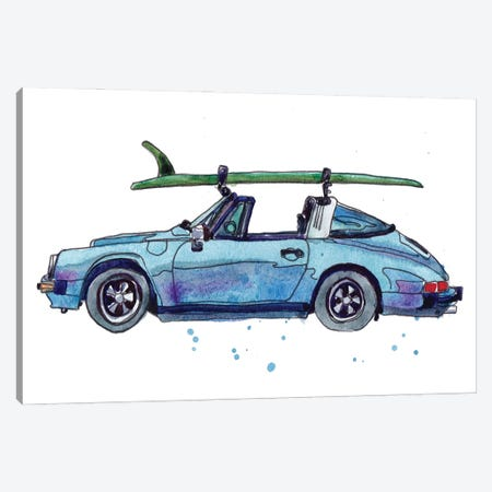 Surfin' Wheels IV Canvas Print #PLM43} by Paul Mccreery Canvas Artwork