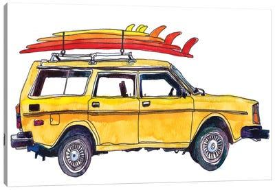 Surfin' Wheels V Canvas Art Print