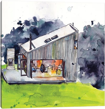 Cabin Scape IV Canvas Art Print