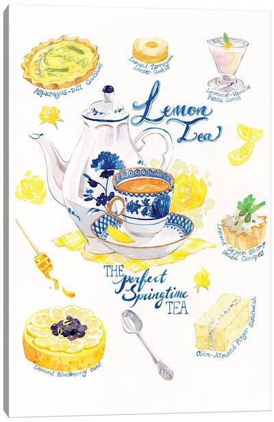 Lemon Tea & Treats by Penelopeloveprints Canvas Art Print