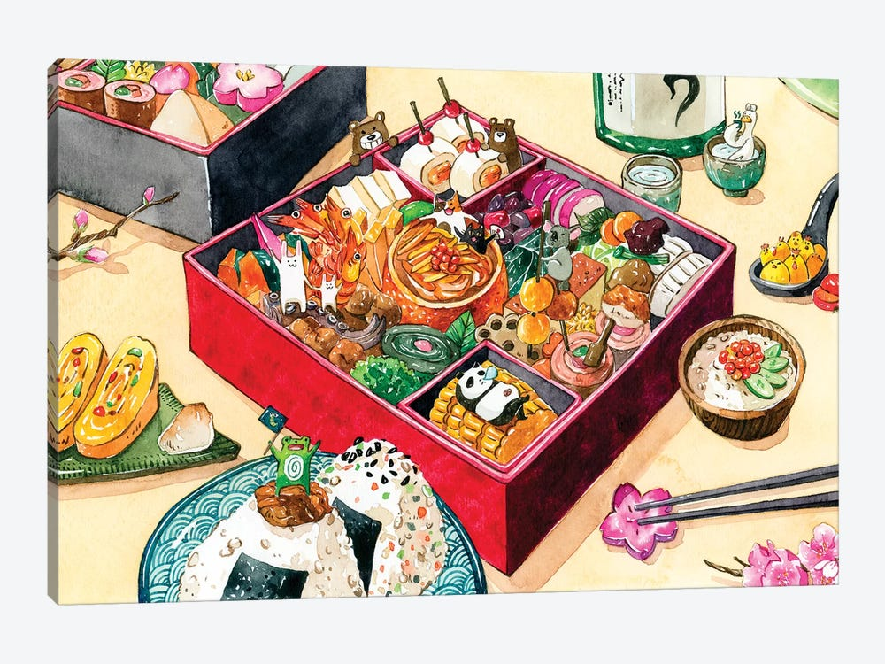 Osechi by Penelopeloveprints 1-piece Canvas Artwork