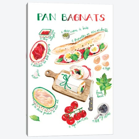 Pan Bagnats Recipe Canvas Print #PLP12} by Penelopeloveprints Canvas Art