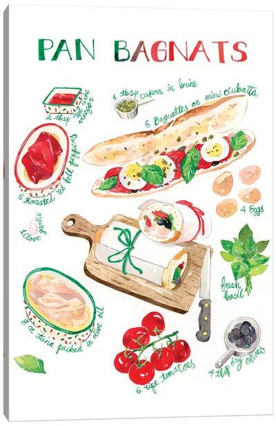 Pan Bagnats Recipe Canvas Art Print