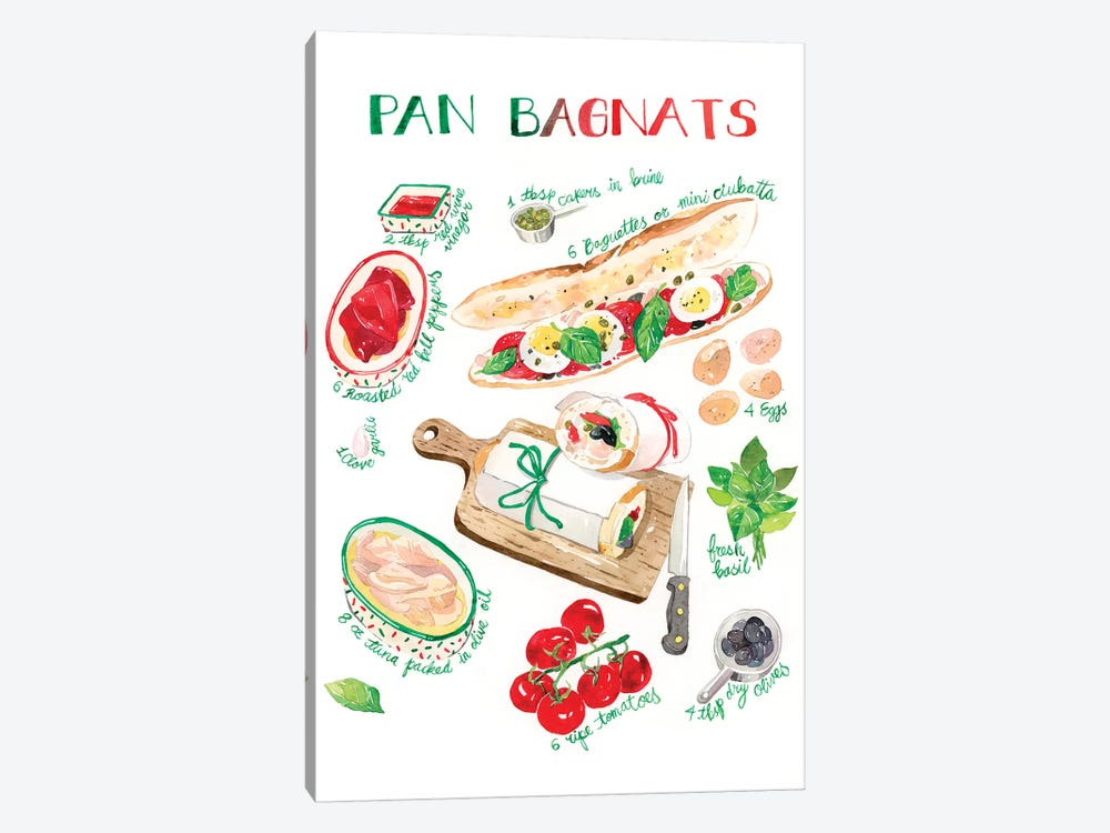 Pan Bagnats Recipe by Penelopeloveprints 1-piece Canvas Print