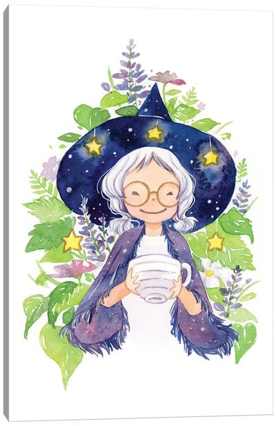Tea Witch Canvas Art Print