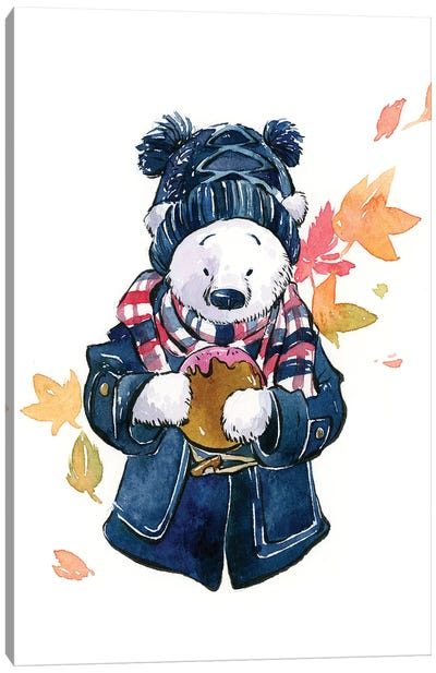Winter Bear Canvas Art Print