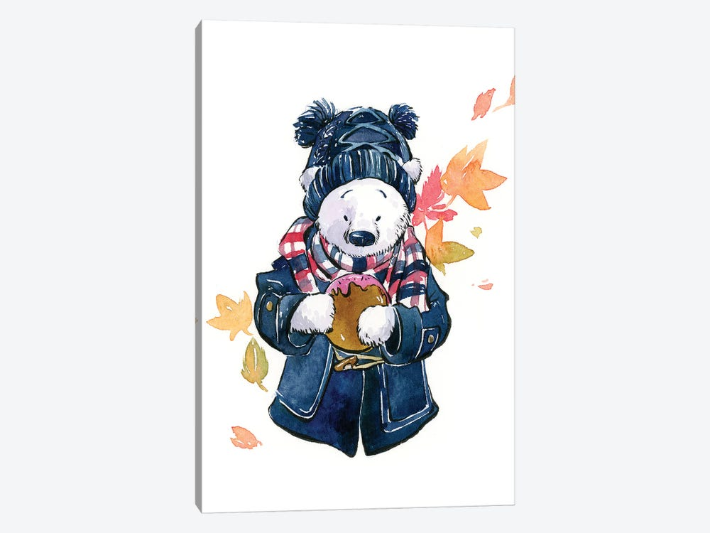 Winter Bear by Penelopeloveprints 1-piece Canvas Art Print