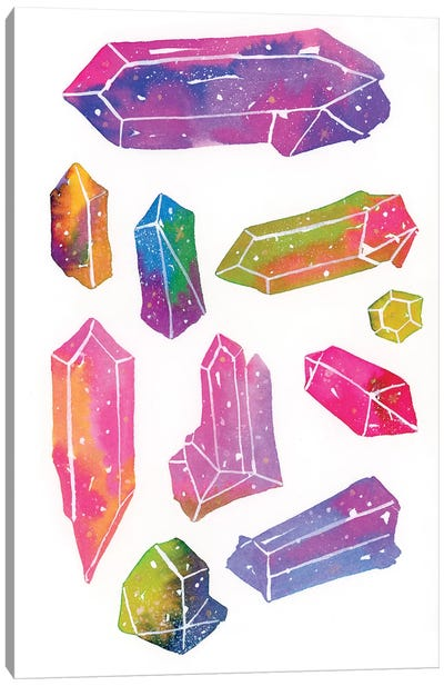 Crystal Gem Canvas Art Print