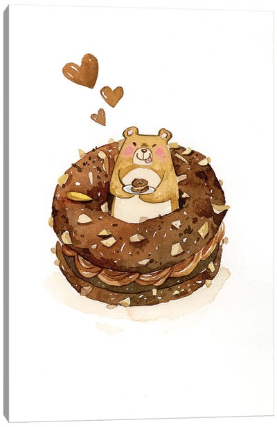 Donut by Penelopeloveprints Canvas Art Print