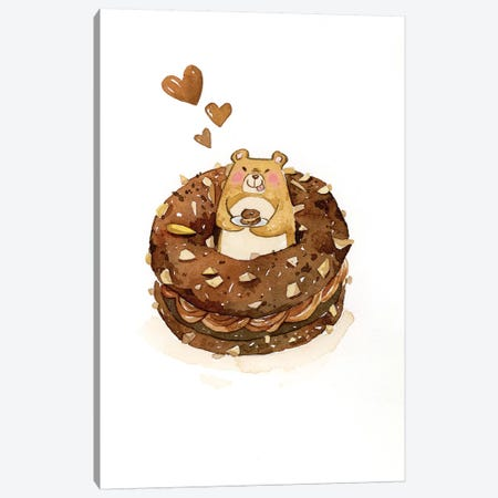 Donut Canvas Print #PLP21} by Penelopeloveprints Canvas Print