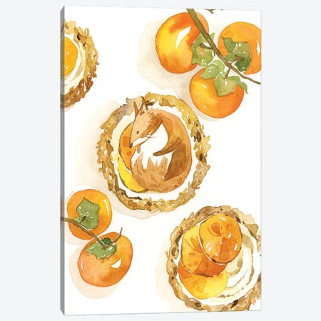 Fox Tart Canvas Print #PLP24} by Penelopeloveprints Canvas Wall Art