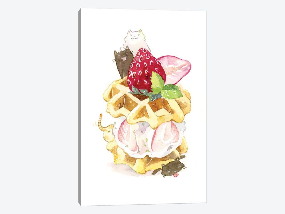Kitty Waffle by Penelopeloveprints 1-piece Art Print