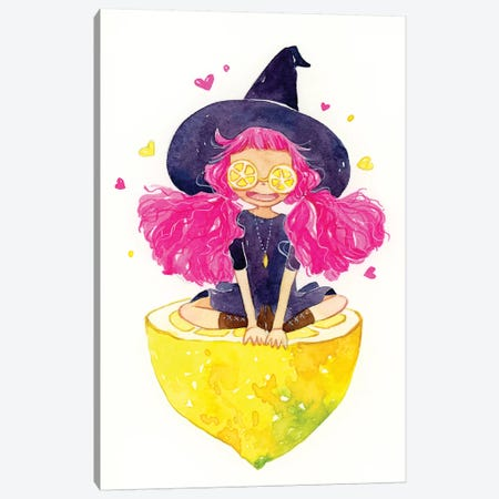 Lemon Witch Canvas Print #PLP28} by Penelopeloveprints Canvas Art Print