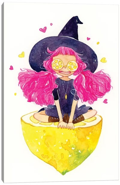 Lemon Witch by Penelopeloveprints Canvas Art Print