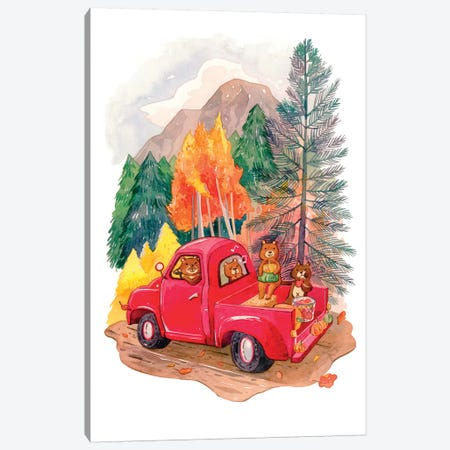Little Red Truck Canvas Print #PLP29} by Penelopeloveprints Canvas Print