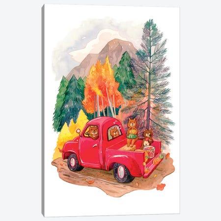 Little Red Truck Canvas Print #PLP29} by Penelopeloveprints Canvas Print