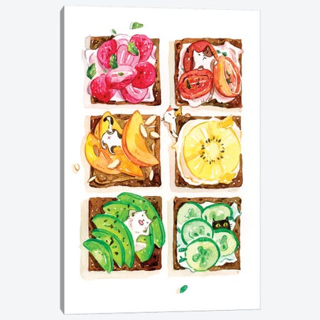 Rainbow Toast Canvas Print #PLP31} by Penelopeloveprints Canvas Wall Art