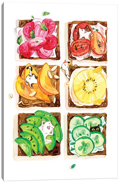 Rainbow Toast by Penelopeloveprints Canvas Art Print