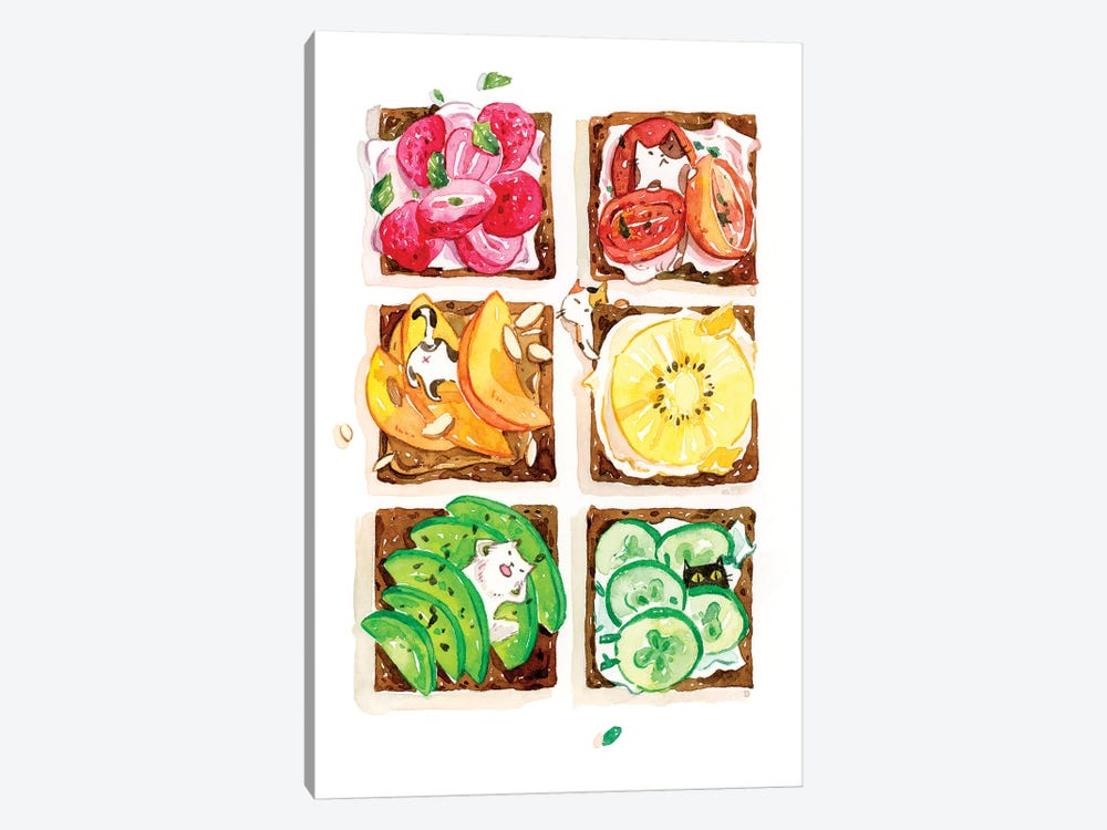 Rainbow Toast by Penelopeloveprints 1-piece Canvas Wall Art