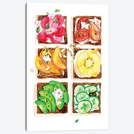 Rainbow Toast Canvas Print #PLP31} by Penelopeloveprints Canvas Wall Art
