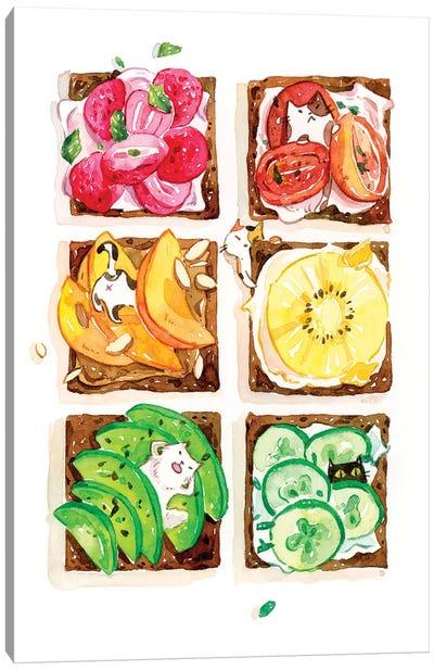 Rainbow Toast Canvas Art Print