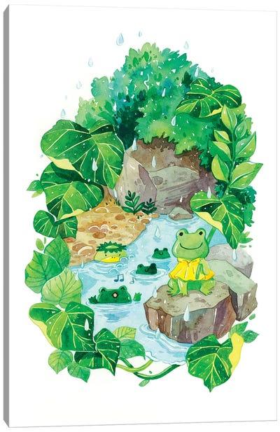 Rainy Pond Canvas Art Print