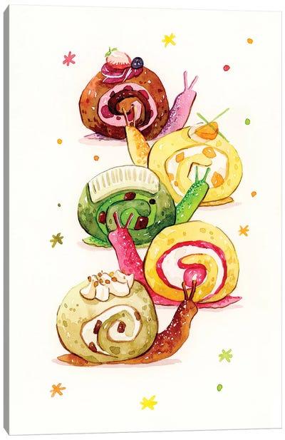 Snail Cake Canvas Art Print