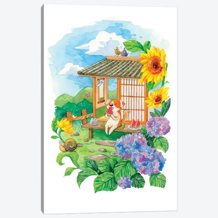 Summer Garden Canvas Print #PLP37} by Penelopeloveprints Canvas Art Print