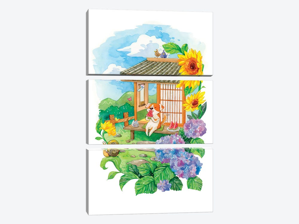 Summer Garden by Penelopeloveprints 3-piece Canvas Art
