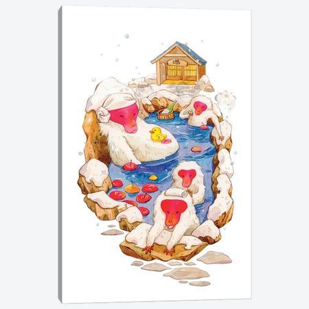 Winter Hot Spring Canvas Print #PLP38} by Penelopeloveprints Canvas Wall Art