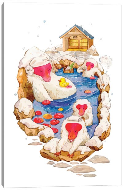 Winter Hot Spring Canvas Art Print
