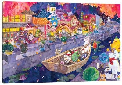 Cat Town Canvas Art Print